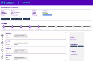 Naviporta platform track shipment
